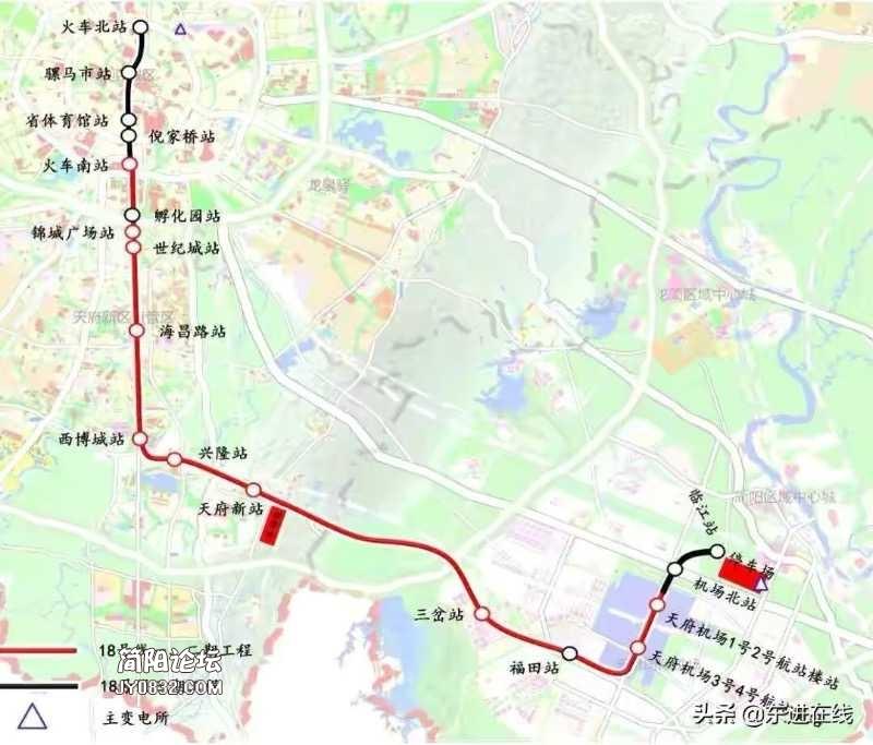 成都地铁18号线分为慢车、快车与直达车